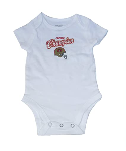 361984ad7 Image Unavailable. Image not available for. Color  NFL Team Apparel San  Francisco 49ers Future Champion Infant Onesie Size ...