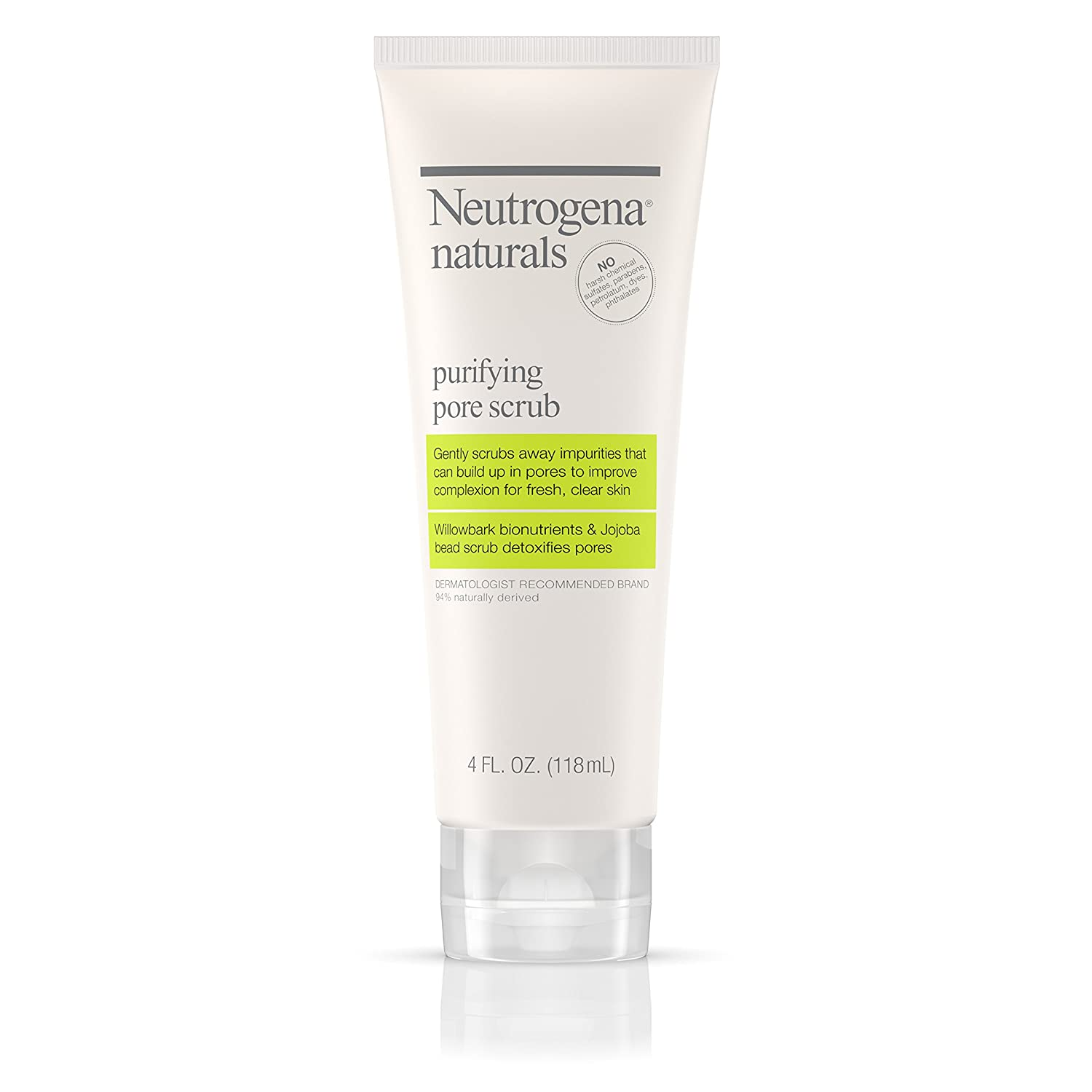 Neutrogena Naturals Purifying Pore Scrub, 4 Fluid Ounce (Pack of 3) Johnson & Johnson SLC 070501025161