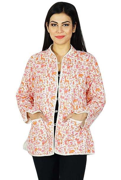 Mujeres étnicas reversible invierno caliente de la capa hecha a mano de la chaqueta de algodón acolchado chaqueta: Amazon.es: Ropa y accesorios