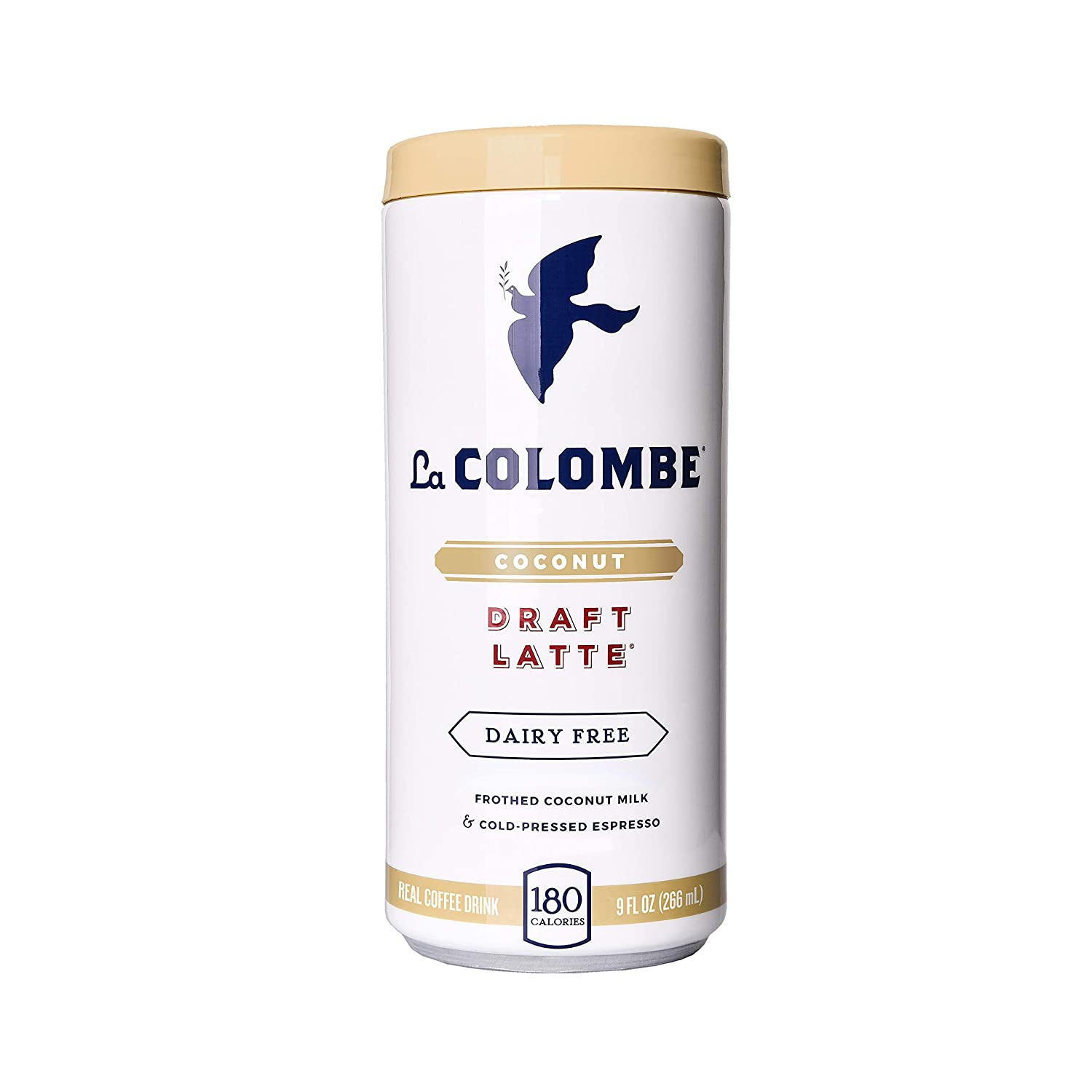 La Colombe Pure Black & White Cold-Pressed Coffee - 9 Fluid Ounce, 16 Count - Touch of Cream and Sugar - Medium Roast, Single-Origin Cold Brew - Grab And Go Coffee La Colombe Torrefaction INC