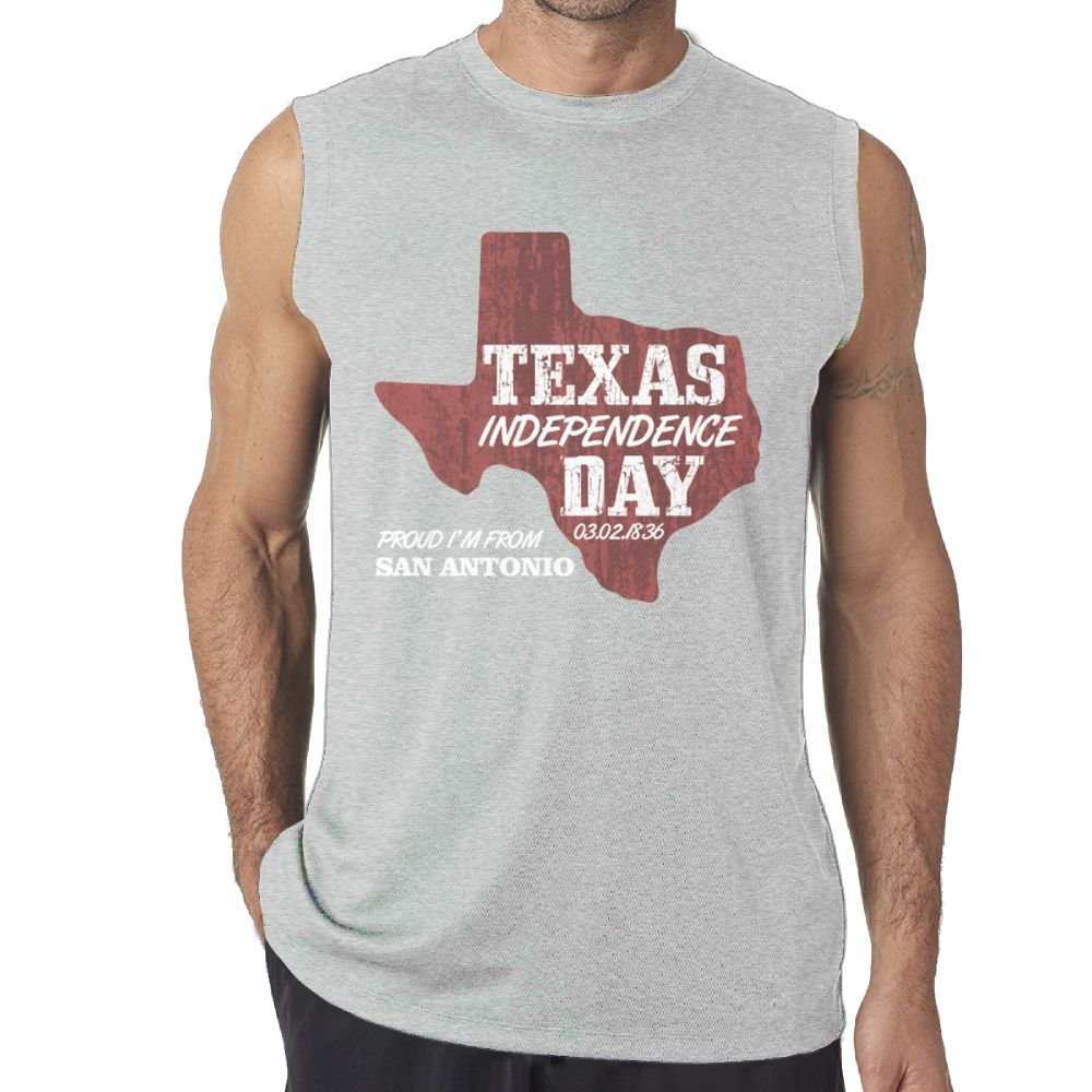 Riokk Az Sleeveless Tanks Tops T-Shirts Fit Mens Texas Independence Day Casual