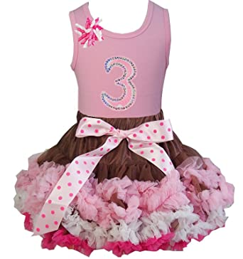 3cd5c2bd5e Kirei Sui Girl Brown Pink Cream Pettiskirt 3rd Birthday Light Pink Tank Top  S Light Pink: Amazon.co.uk: Clothing