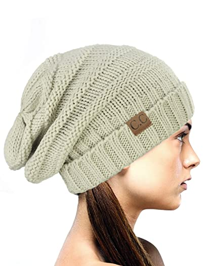 de14129d5a2 NYFASHION101 Oversized Baggy Slouchy Thick Winter Beanie Hat