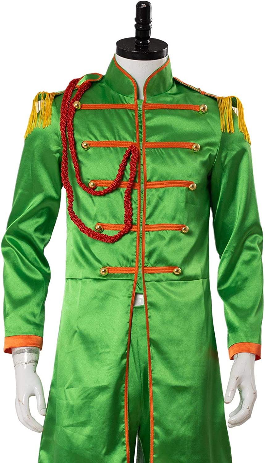 Amazon Com Cosplaysky The Beatles Costume Sgt Pepper S Lonely Hearts Club John Lennon Cosplay Clothing