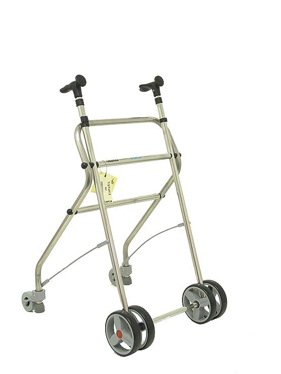 Forta fabricaciones - Andador de aluminio para ancianos Rollatino - Negro