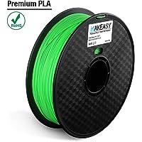 Filament PLA + 1.75mm Makeasy PLA PLUS Filament 1.75mm Pour Imprimante 3D, stylos 3D 1kg 1 Spool Vert