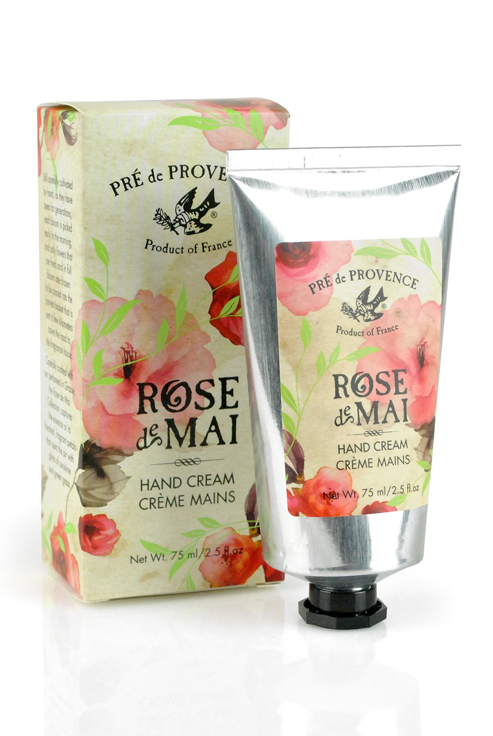 Pre de Provence Hand Cream or Lotion to Soothe, Soften, and Hydrate with Shea Butter, Vitamin E, Olive Oil, Botanical Rose Blend Fragrance (2.5 fl oz) - Rose De Mai