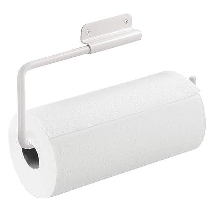 InterDesign Rondo Porta rollo de papel de cocina | Portarrollos de pared giratorio | Soporte para