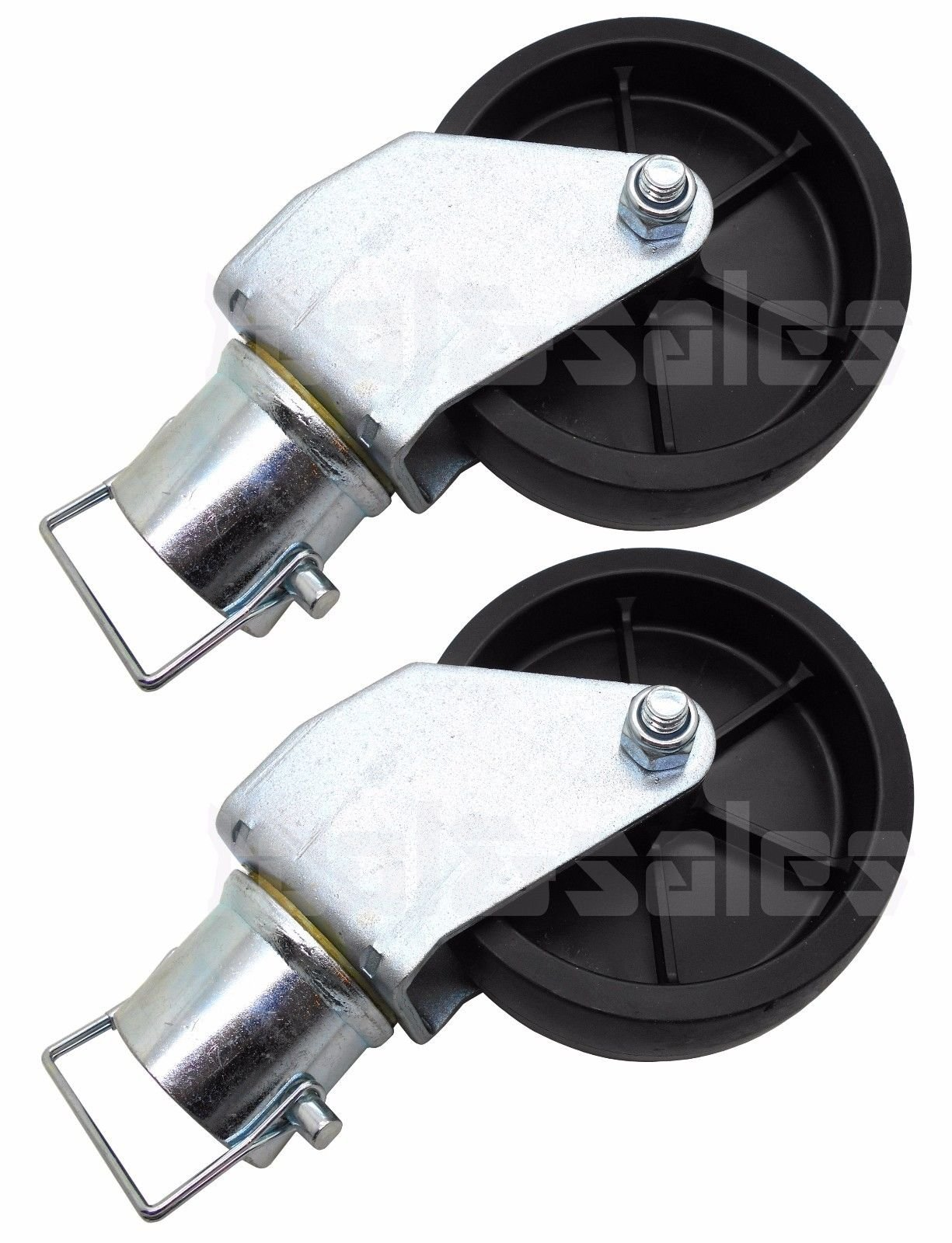 (Lot of 2) 12000lbs 6 Trailer Swirl Jack Caster Wheel w/Safety Pin Boat Hitch