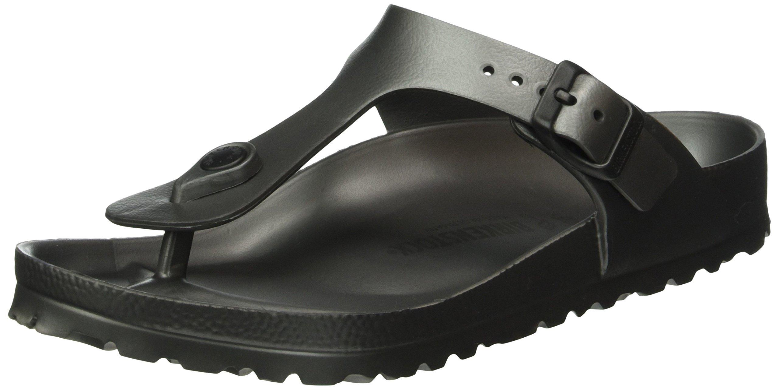 Birkenstock Essentials Unisex Gizeh EVA Sandals Metallic Anthracite 39 N EU (US Women's 8-8.5) by Birkenstock