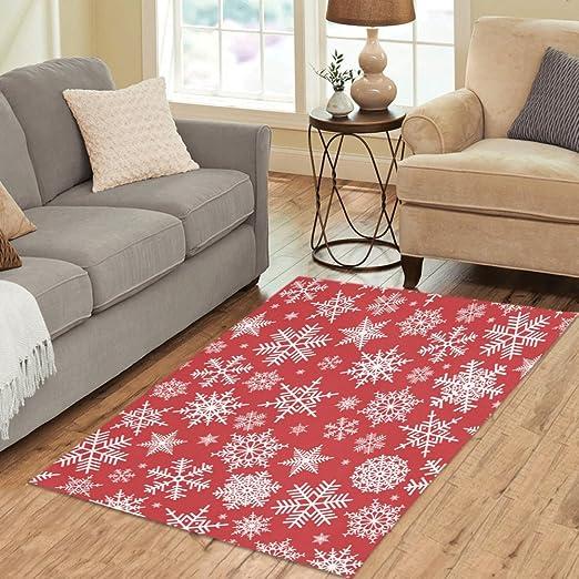 Amazon.com: InterestPrint Custom Home Decor Christmas Red White ...