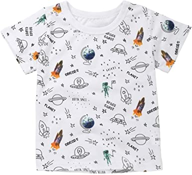 Kids Clothes For 1-6Years,❤️Internet Baby Boys Clothes Short Sleeve Cartoon Pattern Tops T-Shirt Blouse 2-3T, Gray