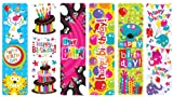 Raymond Geddes Happy Birthday Bookmark, 100 Pack