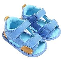 Halau Toddler Baby Boys Crib Shoes Newborn Soft Sole Anti-Slip Canvas Sandals Sneakers