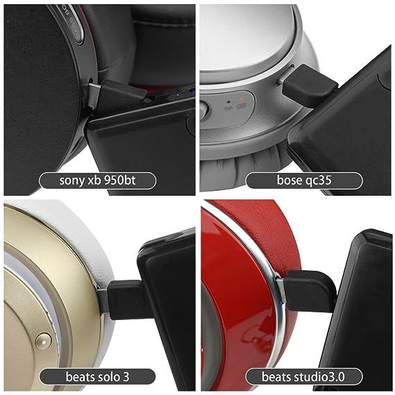 Mini banco de la energía inalámbrica para auriculares, cargador portátil compacto y ligero, ScratchStopper Powerbank para Sony mdr-950bt, Beats solo3, ...