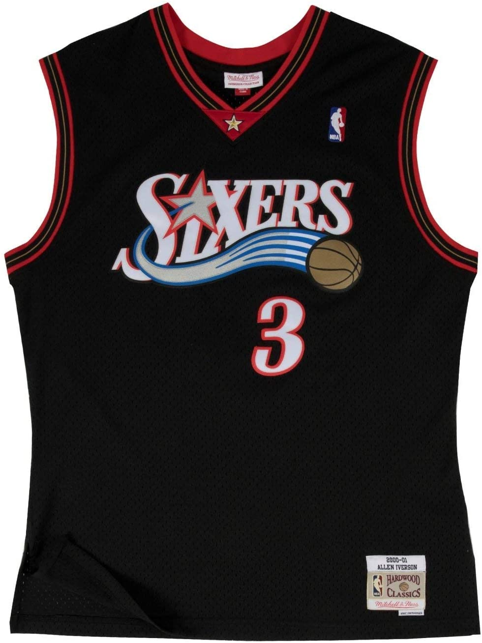 Allen Iverson Philadelphia 76ers Mitchell and Ness Men's Black Throwback Jesey