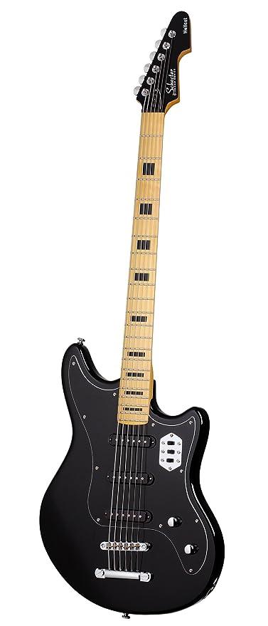 Schecter Hellcat VI - Guitarra eléctrica (color negro brillante), BLK