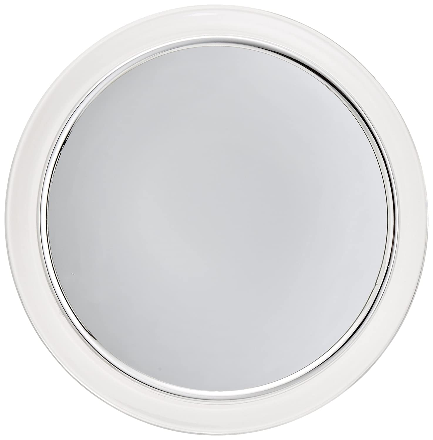 Jerdon JPFM9 9-Inch Portable Fogless Suction Cup Shower Mirror with 3x Magnification, Chrome and Acrylic Finish