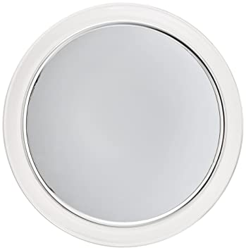 jerdon jpfm9 9inch fogless suction shower mirror with 3x chrome and acrylic