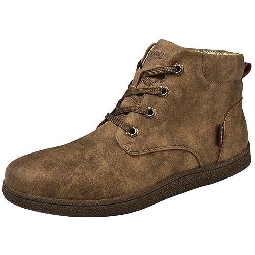 Stivali piatti alla moda da uomo Casual Desert Boots Fodera invernale in cotone impermeabile , 41