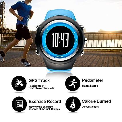 Uhren Digitale Uhren Top Marke Ezon T031 Wiederaufladbare Gps Timing Uhr Laufen Fitness Sport Uhren Kalorien Zähler Abstand Tempo 50 M Wasserdichte