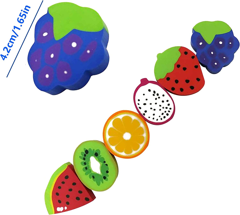 colores mezclados Gomas de borrar de frutas Mini borradores de dibujos animados Goma de borrar cl/ásica adecuado para papeler/ía regalos escuelas aulas premios para ni/ños y estudiantes 20 piezas