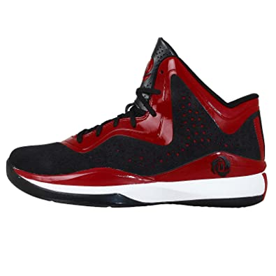 promo code 63bec 8df39 adidas High top Shoes Patike D Rose 773 III J Black and red Leather C75801   Amazon.co.uk  Shoes   Bags