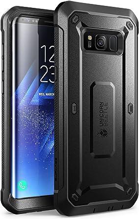 Supcase Samsung Galaxy S8 Plus Hülle Unicorn Beetle Pro Outdoor Handyhülle Schlagfest Case Robust Schutzhülle Cover Mit Gürtelclip Ohne Eingebautem Displayschutz Schwarz Elektronik