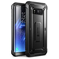 Samsung Galaxy S8 Case, SUPCASE Full-Body Rugged Holster Case with Built-in Screen Protector for Galaxy S8 (2017 Release), Unicorn Beetle Shield Series - Retail Package(Black)