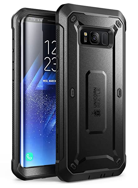 new style 8526c 40e4c SUPCASE Samsung Galaxy S8+ Plus Case, Full-Body Rugged Holster Case with  Tempered Glass Screen Protector for Galaxy S8+ (2017 Release), Unicorn  Beetle ...
