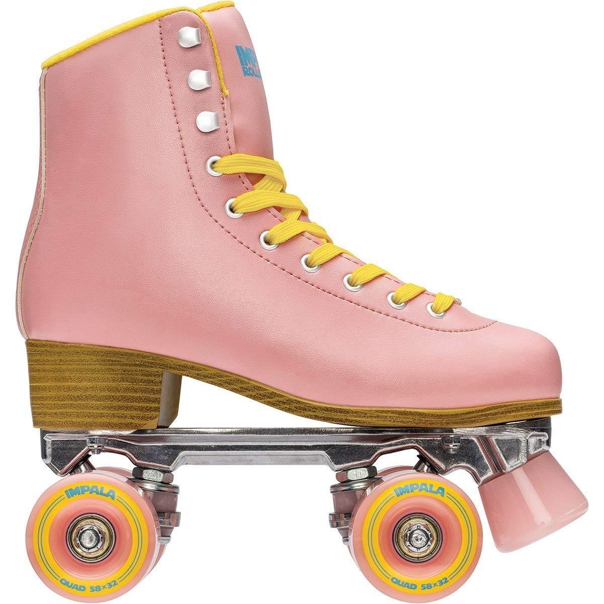 Impala Rollerskates Girl's Impala Quad Skate (Big Kid/Adult) Pink/Yellow 11 M