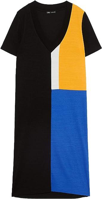 Zara 0264/169 Vestido básico para Mujer - Azul - Large ...