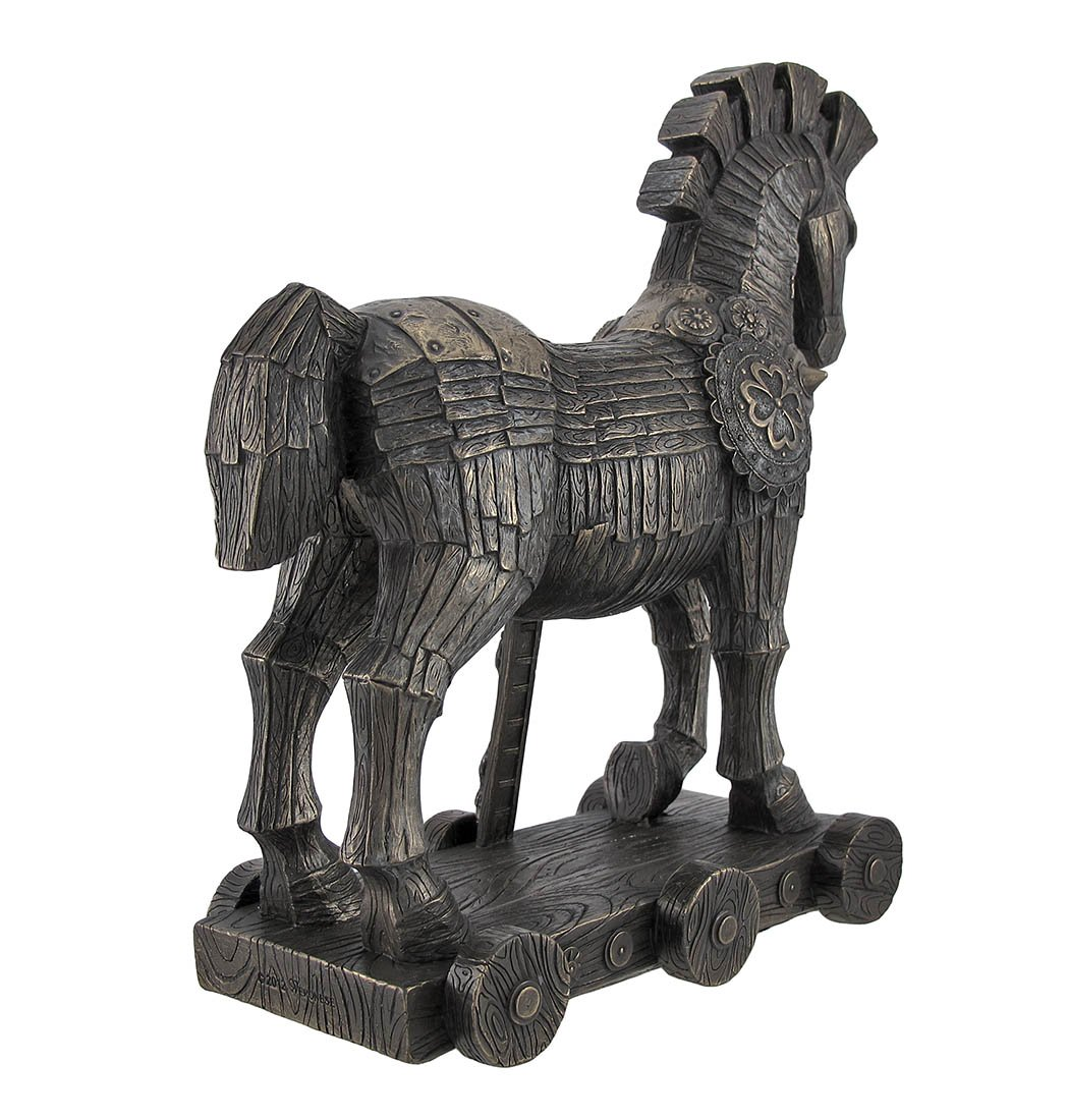 amazon com ancient greek bronzed trojan horse statue home u0026 kitchen