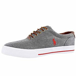 Polo by Ralph Lauren Men's Vaughn Canvas Lace-Up Fashion Sneaker Grey 9.5 M US