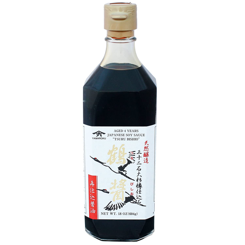 Yamaroku Shoyu Pure Artisan Dark Sweet Japanese Premium Gourmet Barrel Aged 4 Year Soy Sauce