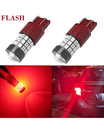 Alla Lighting 7440 7443 LED Strobe Brake Lights Bulbs Super Bright T20 7440 7443 Flashing Strobe