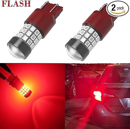 Aissy 7443 7440 LED Strobe Brake Light Flashing Blinker Bulb Super ...