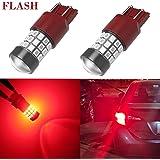 Alla Lighting 7440 7443 LED Strobe Brake Lights Bulbs Super Bright T20 7440 7443 Flashing Strobe Pure Red LED Bulbs High Power LED 7443 Strobe Brake Stop Light Bulbs, Brilliant Pure Red (Set of 2)