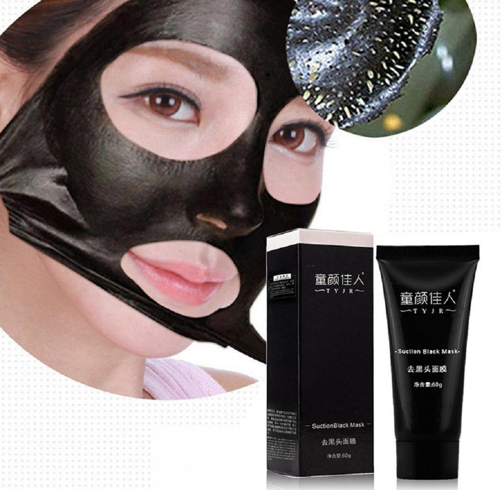 Remove Blackhead Facial Mask,Malloom Black Mud Deep Cleansing Purifying Peel Off Facail Face Mask (Black) CP-013