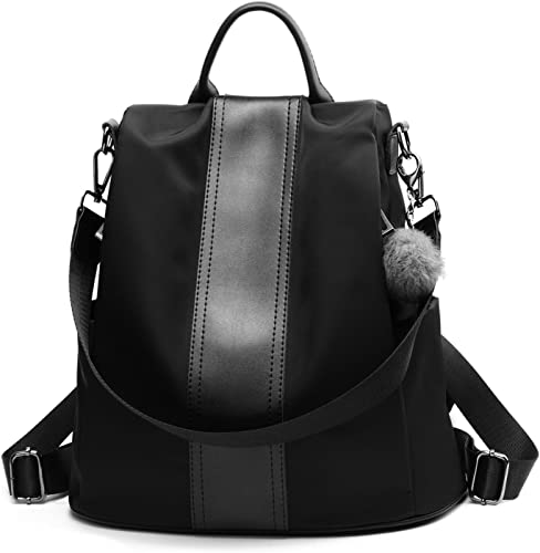 UTO Women Backpack Purse Waterproof Nylon Anti-Theft Rucksack Lightweight School Shoulder Bag-Large Version CA