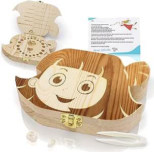 Amazy Caja para dientes de leche (Grande | Niña) Incl. pinza y ...
