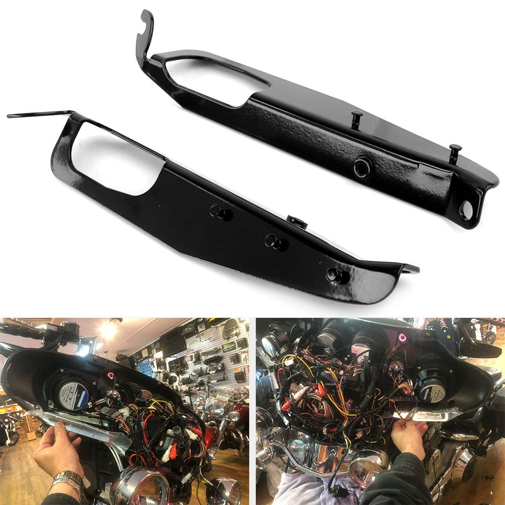 2007 GZYF Motorcycle Inner Fairing Support Brackets Plated/Compatible with 1996-2005 FLHTC 2009 FLHT