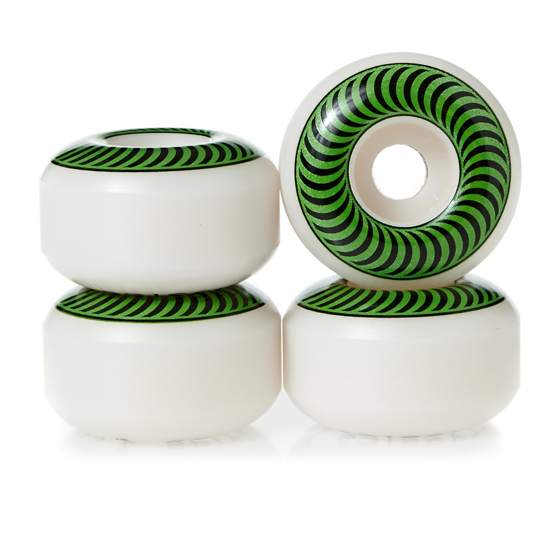 Spitfire Classic Series High Performance Skateboard Wheel (Set of 4) (White, 52 MM) by Spitfire