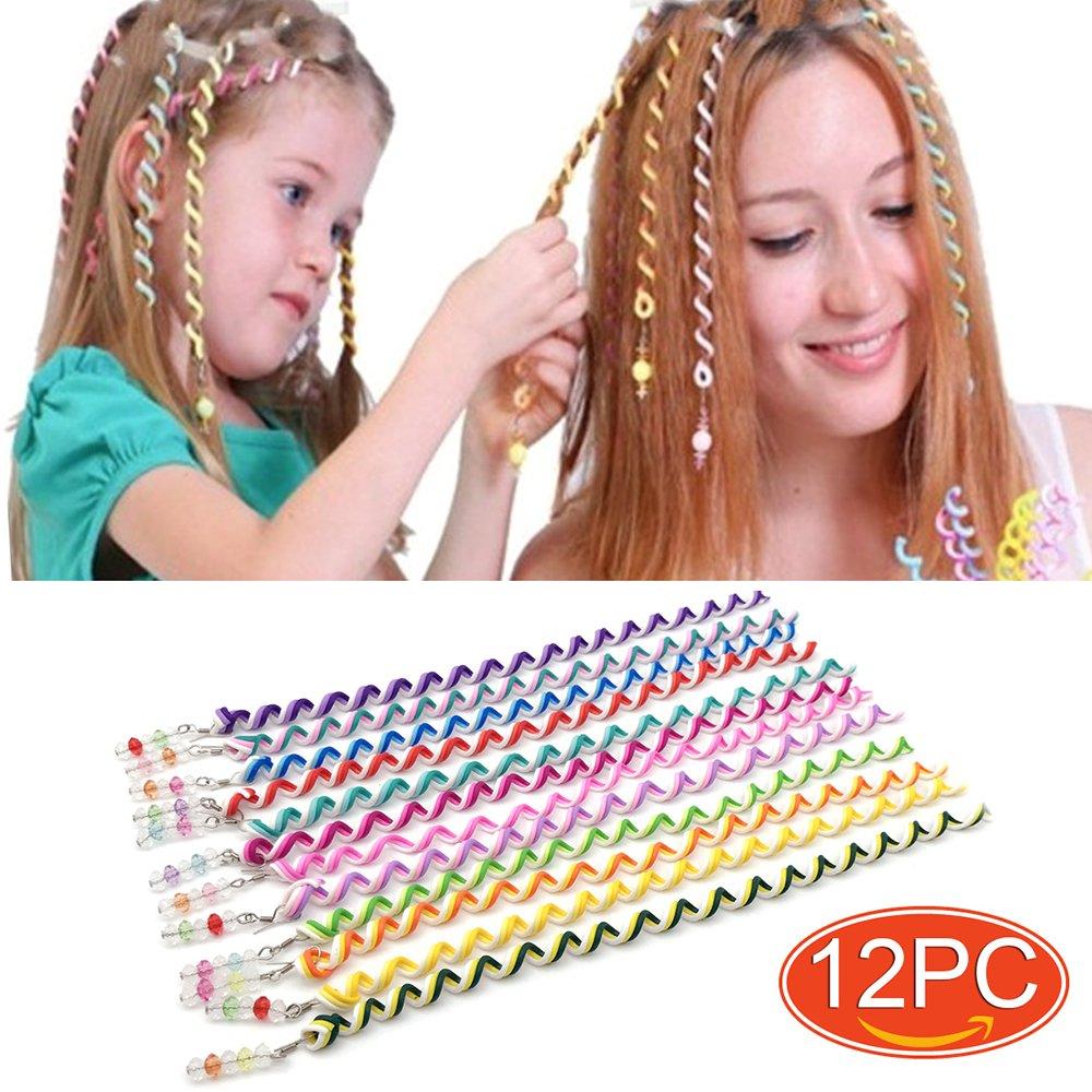Elesa Miracle 12pc Teens Girl Kids Hair Braid Twister Clips Braider Tool Kids Party Favor Hair
