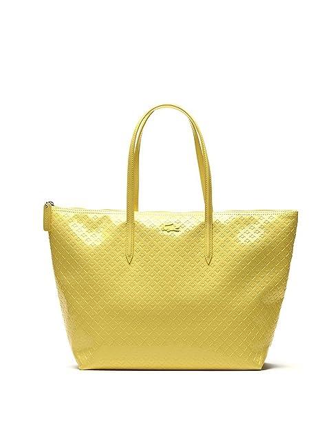 a1adb5d5163 Bolso shopper Lacoste (limón)  Amazon.es  Zapatos y complementos