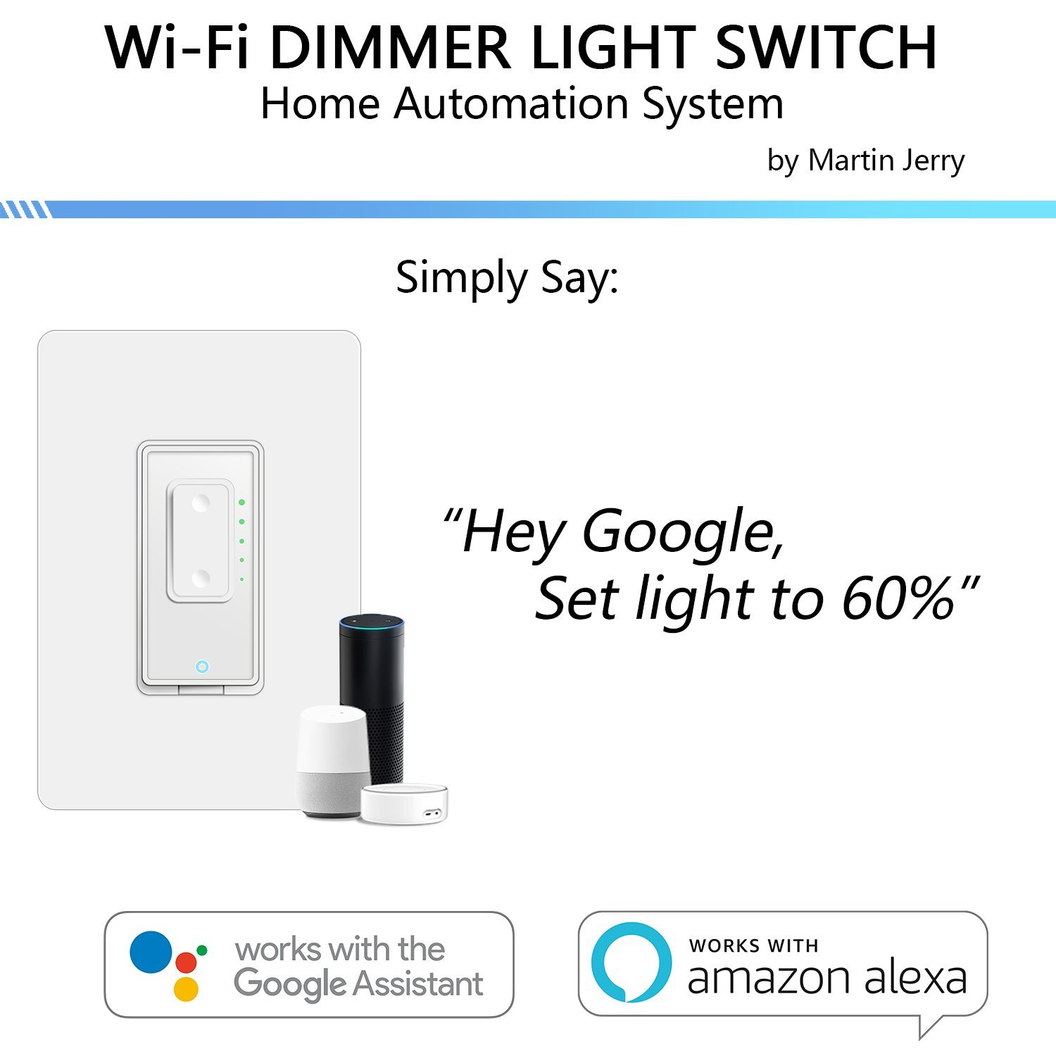 Smart Dimmer Switch by Martin Jerry | SmartLife App, Mains Dimming ONLY, Compatible with Alexa as WiFi Light Switch Dimmer, Single Pole, Works with Google Assistant [For Sale NOW] by Martin Jerry (Image #3)