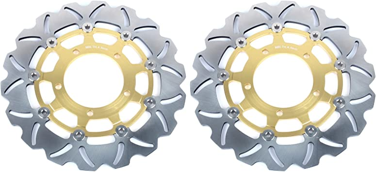 A Set Front/&Rear Brake Disc Rotors For 2006-2007 Suzuki GSXR 600 750 2006-2007