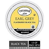 Twinings of London Earl Grey Tea K-Cups for Keurig, 12 Count (Pack of 6) - Packaging May Vary