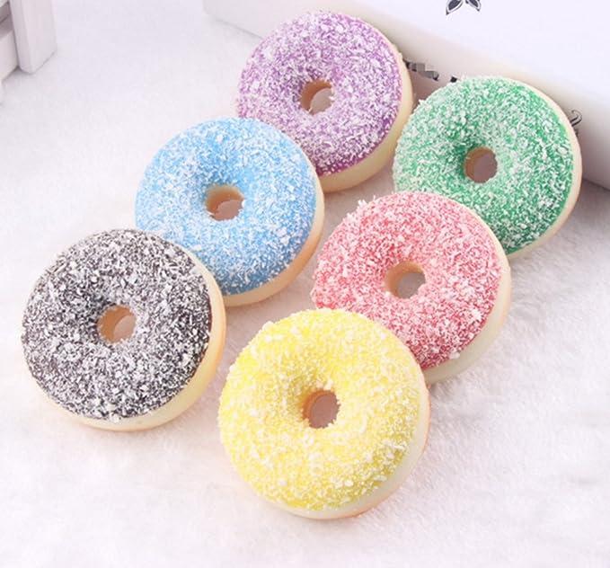 skyseen 6 piezas realista Artificial Donuts falsos tarta postre ...