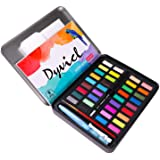 Dyvicl Watercolor Paint Set - 36 Vivid Colors (in Pocket Tin Box) with Watercolor Paper, Refillable Brush, Drawing Pencil, Pa